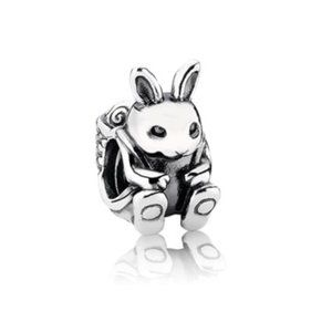 Authentic Pandora Retired Easter Bunny Charm